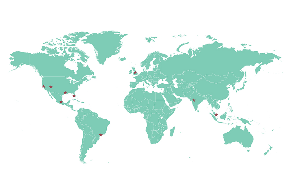 Our Team Global Map